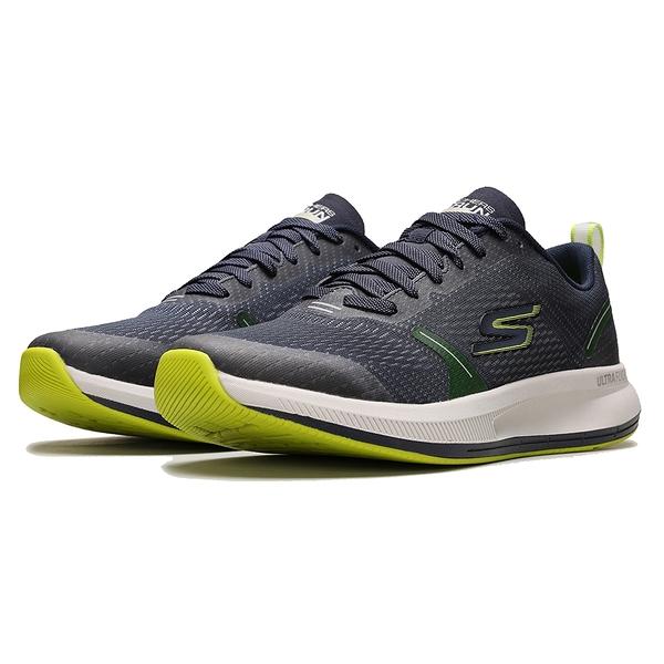 SKECHERS 男款休閒鞋GO RUN PULSE SPECTER 220022NVLM 丈藍綠灰底