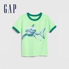 Gap男幼童創意印花圓領短袖T恤577613-綠色