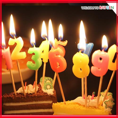 蛋糕蠟燭 0-9號數字生日求婚浪漫蠟燭 10支裝