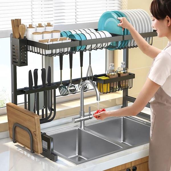 廚房水槽置物架碗筷瀝水碗架台面水池收納架家用碗碟洗碗池瀝水架 韓美e站ATF