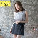 無袖洋裝--韓版甜心氣質出品金色排釦造型...