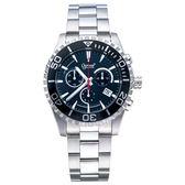Ogival 瑞士愛其華  深海悍將潛水計時石英腕錶-黑/44mm