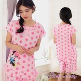 PinkLady可愛米妮 滿版點點迪士尼睡衣褲2122(粉)