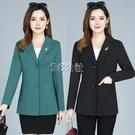 西裝外套 新款中老女裝媽媽裝 條紋顯瘦西裝 春秋裝氣質白領洋氣西服外套 3c公社