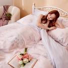 床包 / 雙人【玫薇思】含兩件枕套 60支天絲 戀家小舖台灣製AAU201