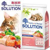 【ZOO寵物樂園】耐吉斯《成貓/ 火雞肉+鮭魚》居家/纖體配方飼料 1.5kg