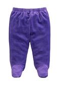 童裝 台灣現貨 保暖天鵝絨寶寶包腳褲-02款深紫色【84079】