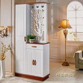雙面玄關櫃隔斷櫃門廳櫃簡約現代歐式客廳鏤空入戶鞋櫃屏風裝飾櫃MBS「時尚彩虹屋」