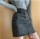 夏季A字裙女士短裙新款高腰包臀性感緊身裙子牛仔顯瘦半 洛小仙女鞋