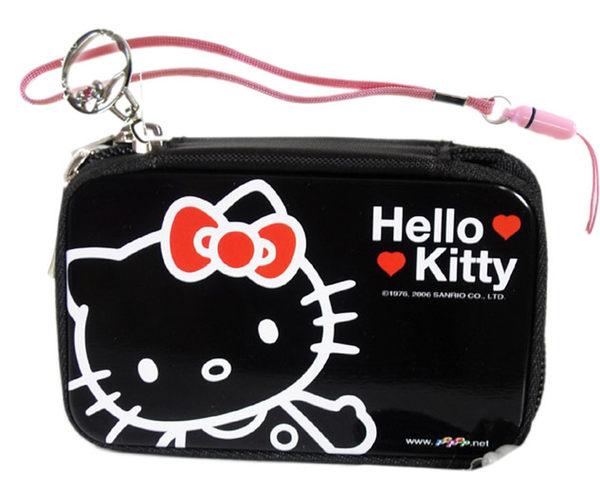 【卡漫城】Hello Kitty 鐵馬口 數位收納盒 ㊣版 臉型 拉鍊 防震 記憶卡相機盒 拭鏡布~2 5 0元