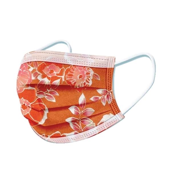 文賀生技醫用口罩 (未滅菌)-三層醫療口罩-花語系列-玫瑰紅 30入/盒