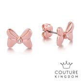 Couture Kingdom 迪士尼 米妮水晶蝴蝶結耳釘(玫瑰金) Disney Minnie Mouse Crystal Bow Studs
