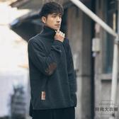 高領毛衣男裝日系復古韓版長袖打底針織衫外套【時尚大衣櫥】