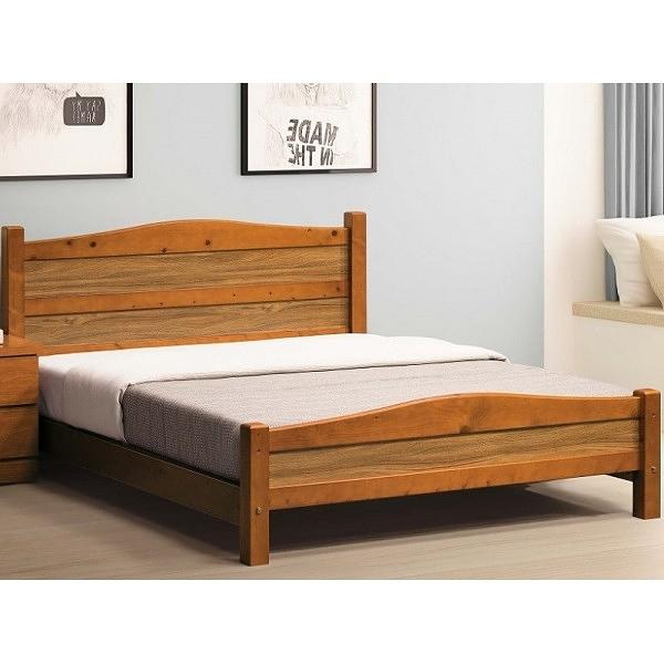 床架 床台 FB-567-3 智利樟木色6尺床 (不含床墊) 【大眾家居舘】