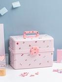 首飾盒 兒童髮飾收納盒大容量髮夾皮筋寶寶頭繩飾品女孩髮卡首飾盒子多層 伊蘿