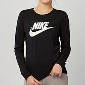 Nike NSW tee essntl ls icn ftr 女款 黑 運動 慢跑 長袖 上衣 BV6172-010