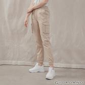 【GIORDANO】女裝工裝風抽繩束口褲 - 86 胡椒白