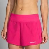 BROOKS (女) Chaser 吸濕 排汗 慢跑 低腰 短褲  BK221040689 牡丹紅短褲 【陽光樂活】