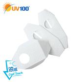 UV100 防曬 抗UV BFE阻隔細菌立體氣閥款濾墊-拋棄式-3入
