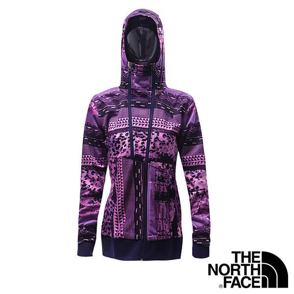 The North Face 女 多功能兜帽外套-石榴紫印花 【GO WILD】