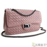 編織包-法國盒子.時尚話題立體編織鍊帶包(共二色)1399#