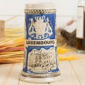 彩繪咖啡杯-立體歐式建築浮雕陶瓷馬克杯2色72ax16[時尚巴黎]