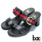 ★新品上市★【bac】流行時尚 經典造型高跟涼鞋(黑色)