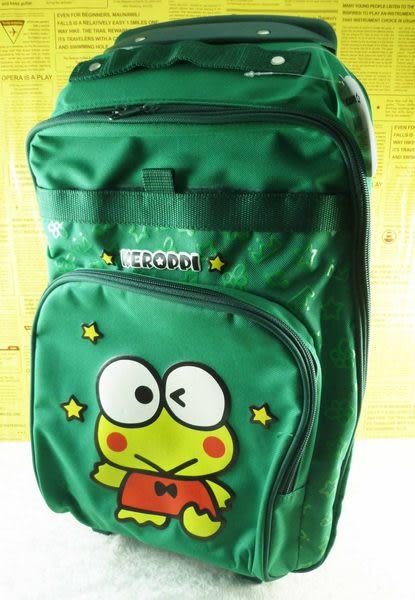 【震撼精品百貨】KeroKeroKeroppi 大眼蛙~拉桿後背包『深綠』