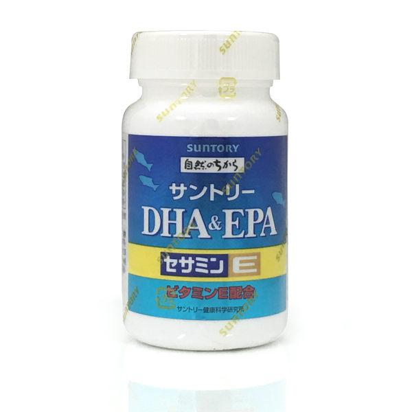 !現貨!【SUNTORY三得利】魚油DHA&EPA+芝麻明E-隨身包非瓶裝(30日份共120顆)
