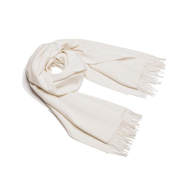 Alpaka Shawl Exclusive 100% 65x200cm 極致系列 素面單色 羊駝毛 披肩 / 圍巾 - 2019 秋冬仕樣(雪白天地)
