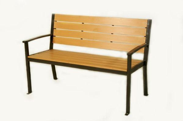【南洋風休閒傢俱】戶外休閒桌椅系列 - 鐵製塑木公園椅 公園椅 庭院椅(S13108)