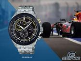 【時間道】CASIO|EDIFICE經典賽車內圈視距儀三眼計時腕錶/黑面五珠鋼帶 (EFR-561DB-1A)免運費