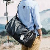 旅行包男皮質出差手提包大容量短途旅游行李健身包商務單肩斜挎袋