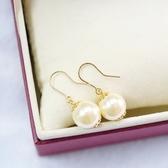 【喨喨飾品】彩珠耳環 高貴大方 S19