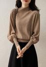 長袖針織上衣 長袖毛衣氣質公主風羊角袖針織衫女裝寬松顯瘦藏肉上衣潮S108-B1皇朝天下