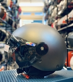 PENGUIN海鳥牌安全帽,PN-780,PN780,MOMO造型飛行帽,童帽,素/消光灰