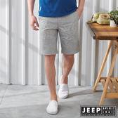 【JEEP】休閒度假印花短褲-灰色