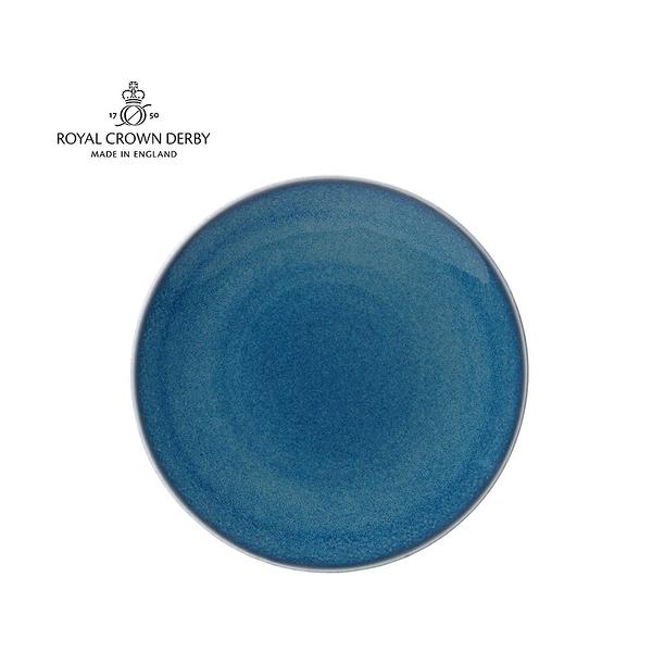 英國Royal Crown Derby-Art Glaze藝術彩釉系列-25.5CM餐盤-滄藍