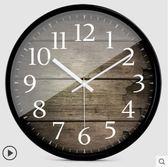 掛鐘歐式創意木大號靜音掛鐘現代時尚客廳個性臥室石英時鐘表 時光之旅