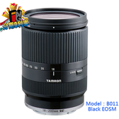 【24期0利率】TAMRON 18-200mm F3.5-6.3 DiIII VC 黑色 B011 俊毅公司貨(( for Canon EOS M M2 M3))