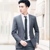 西裝套裝 西服套裝男士外套上衣青年韓版修身商務休閒職業正裝夏季小西裝【快速出貨八折鉅惠】