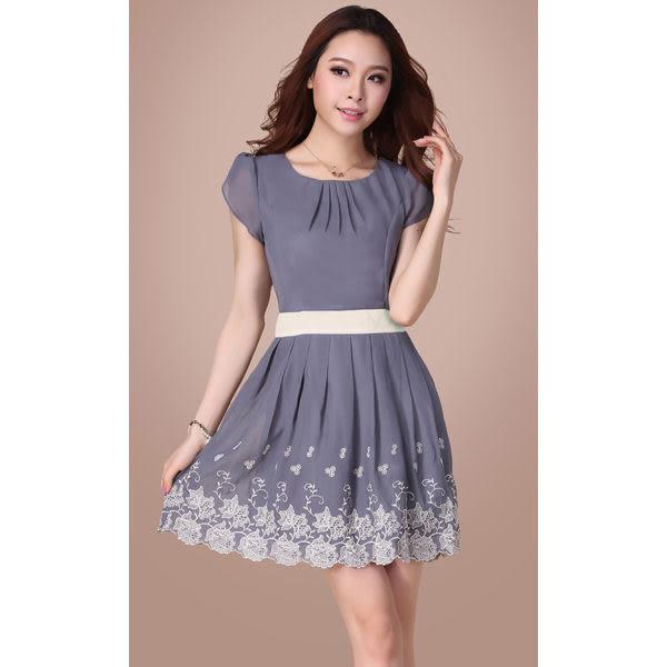 雪紡連身洋裝裙