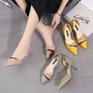 高跟鞋女細跟韓版少女百搭時尚尖頭中空單鞋夏季GZX-14