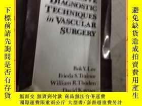 二手書博民逛書店英文書handbook罕見of noninvasive diagnostic techniques in vasc
