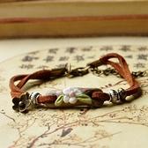 陶瓷手環-手工捏製生日情人節禮物女串珠手鍊73gw155[時尚巴黎]