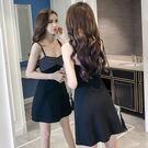 夏季吊帶裙子韓版顯瘦高腰性感連身裙