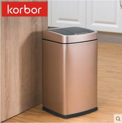 智能感應垃圾桶時尚客廳自動電動筒歐式創意家用衛生間【佛緣藏家】