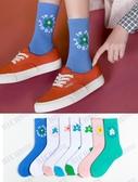小花襪子女潮網紅款韓國泫雅風花朵中筒襪ins超火的可愛百搭長襪