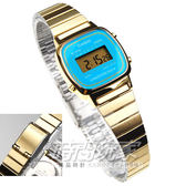 LA670WGA-2 卡西歐 CASIO 復刻金色 電子錶 亮藍色 23mm 女錶 LA670WGA-2DF