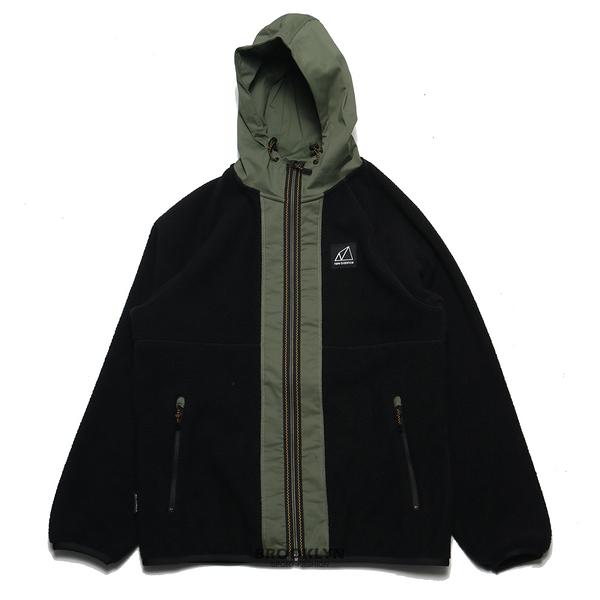 NEW BALANCE 外套 黑綠色 拼接 羔羊毛 保暖 休閒 男 (布魯克林) AMJ13506BK